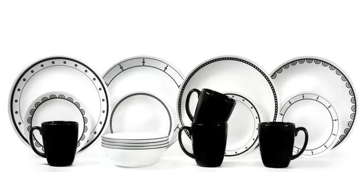 16 piece dinnerware set service for 4