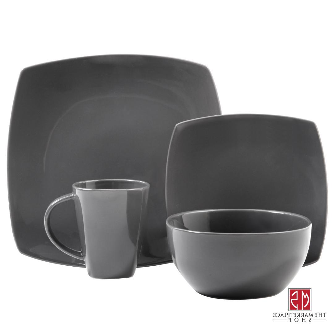 16-Piece Kitchen Plates Mugs Dishes New