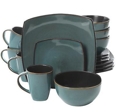16-Piece Dinnerware Stoneware Kitchen Plates Mugs