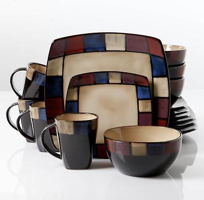 16-Piece Stoneware Kitchen Mugs