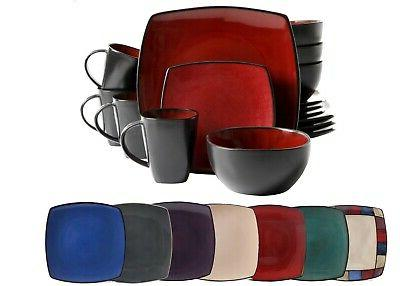 16 piece dinnerware set stoneware kitchen dinner