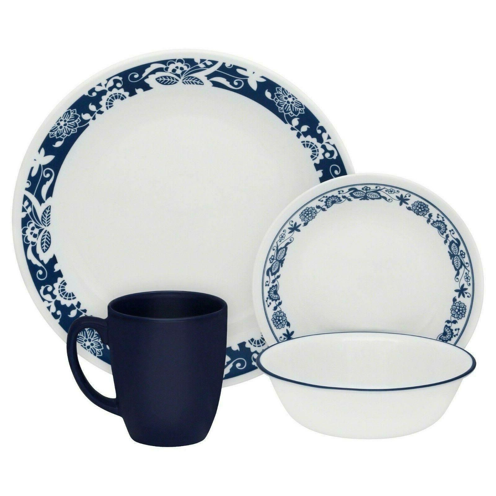 16 piece dinnerware set true blue design