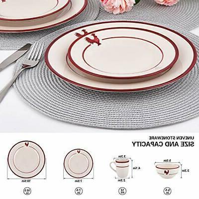 16 Piece Dinnerware Ceramic Dinnerware