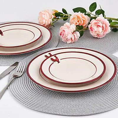 16 Dinnerware Sets, Round Ceramic Set, Porcel