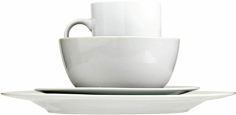 16-Piece Dinnerware Plates, for 4, White