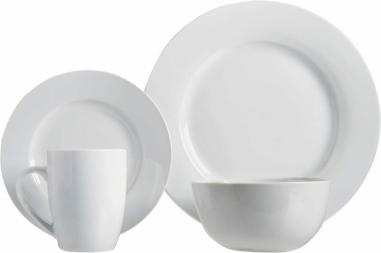 Plates, Bowls, Mugs, for 4, White