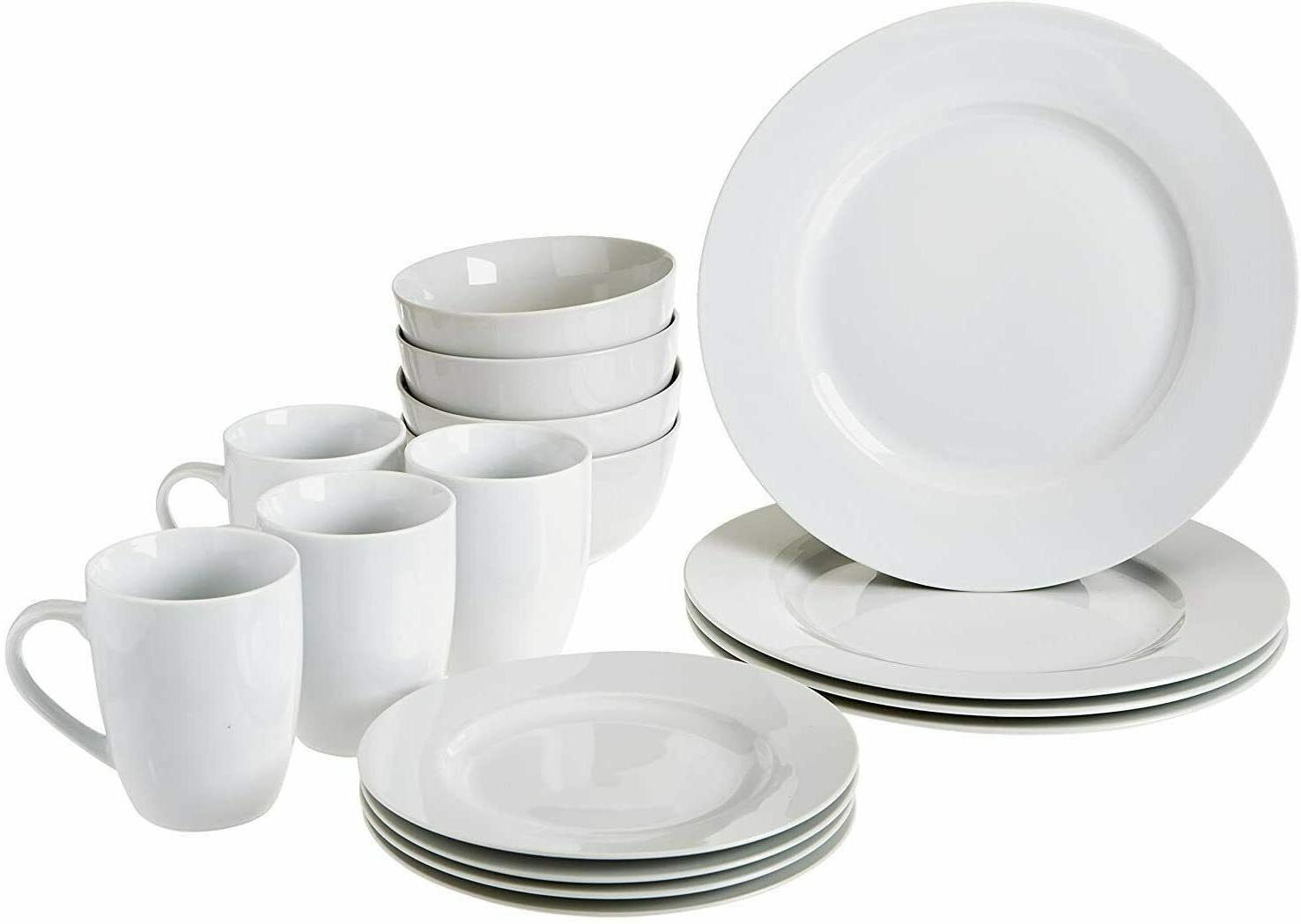 16 piece dinnerware set plates bowls mugs