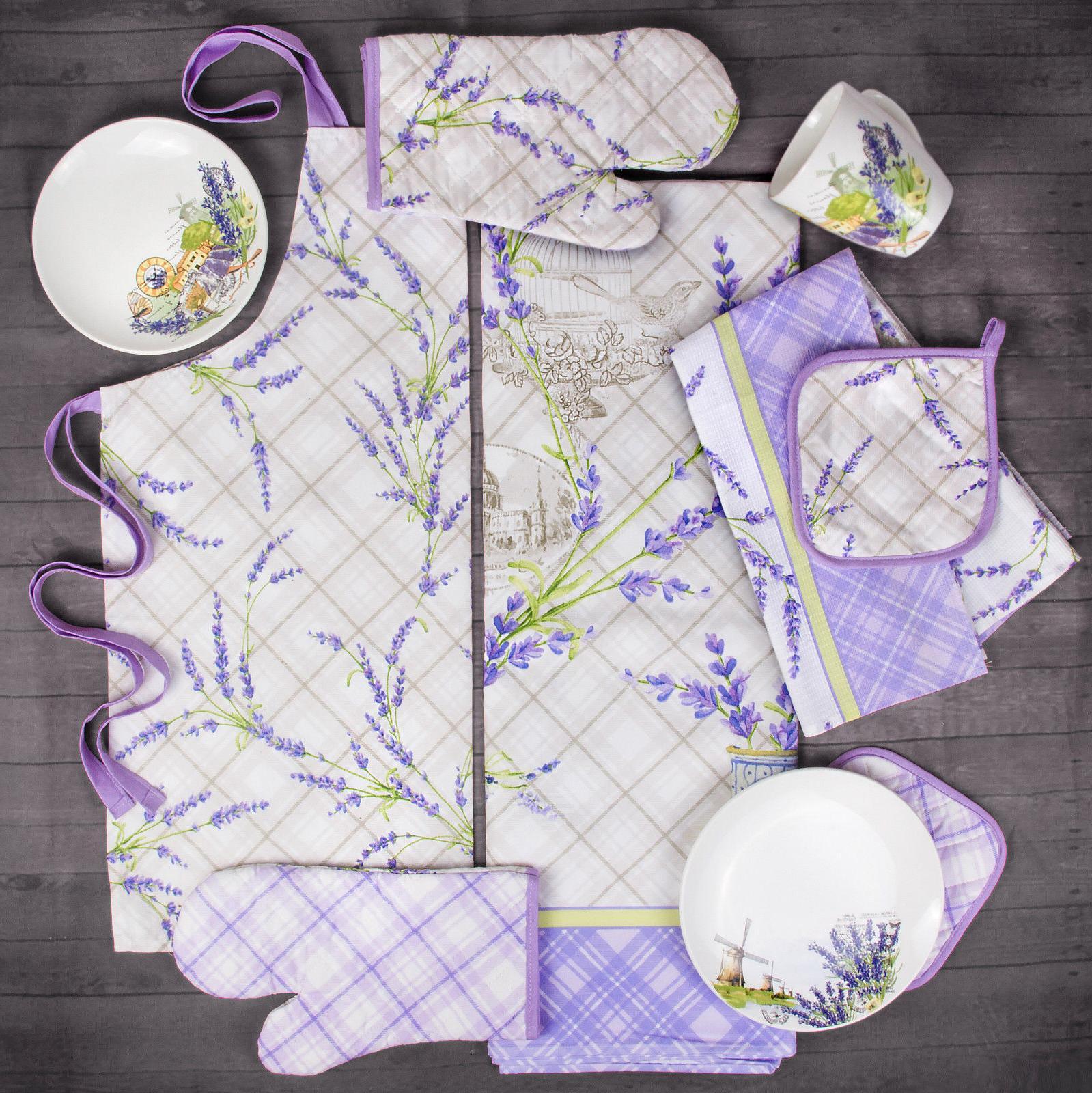 16 Piece Set 4 Lavender Print. Set