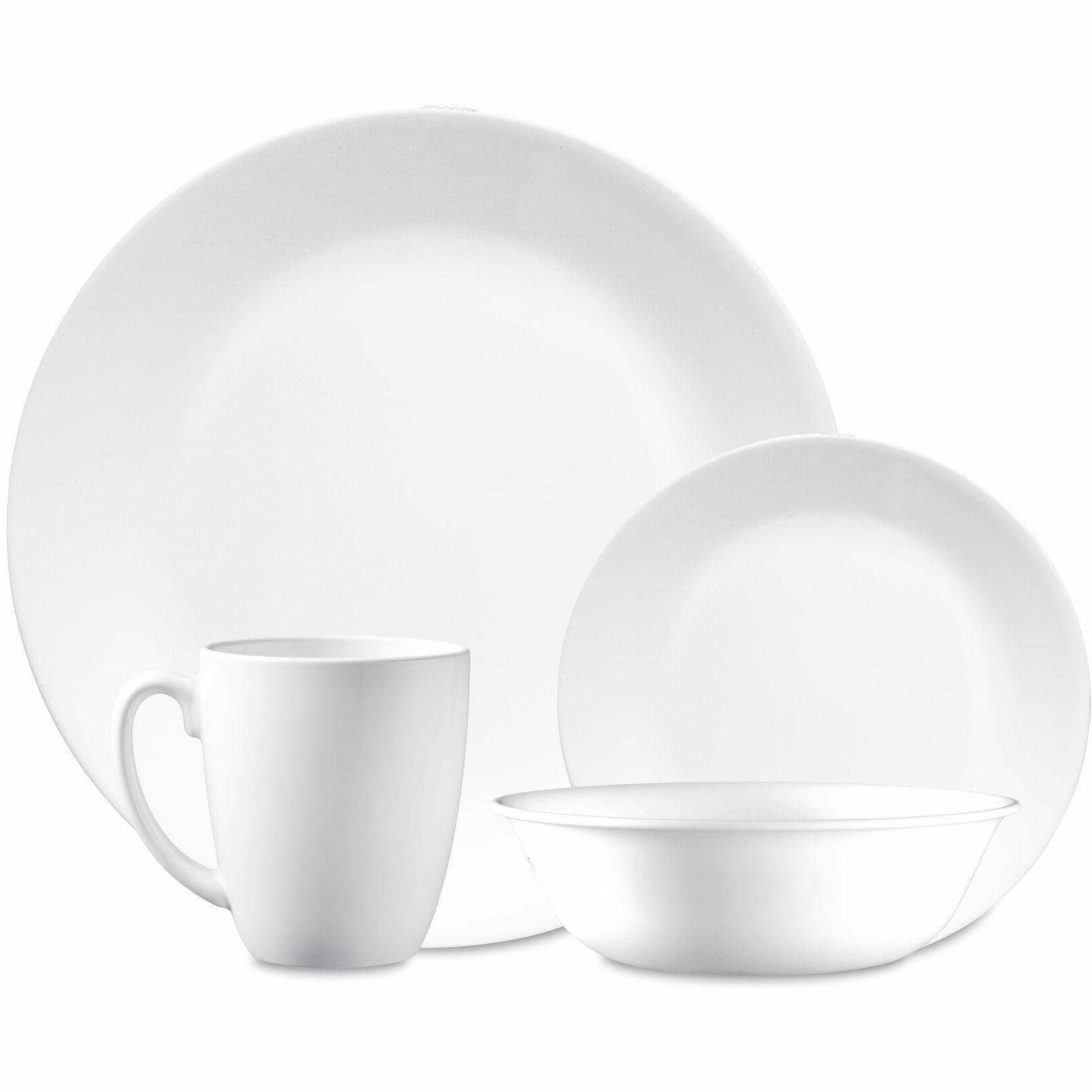 16 piece frost white dinnerware set