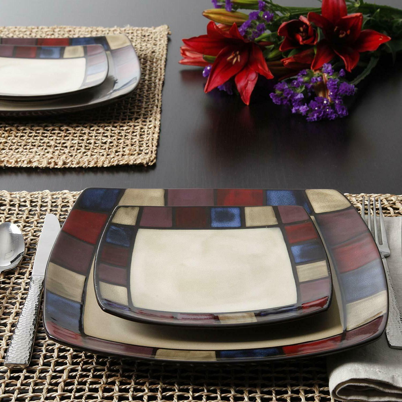 Modern Square Set 16 Bowls Dish
