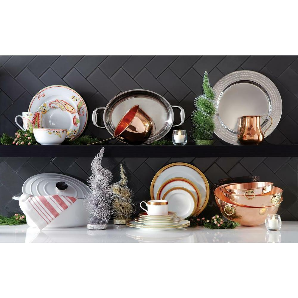 16-Piece Porcelain Dinnerware Colorful & Shapes Dishes