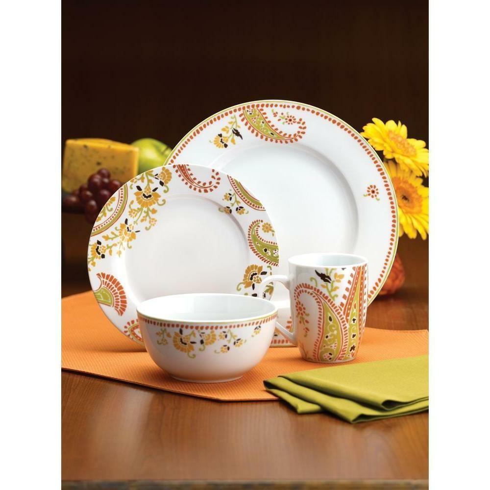 16-Piece Porcelain Colorful Patterns & Shapes