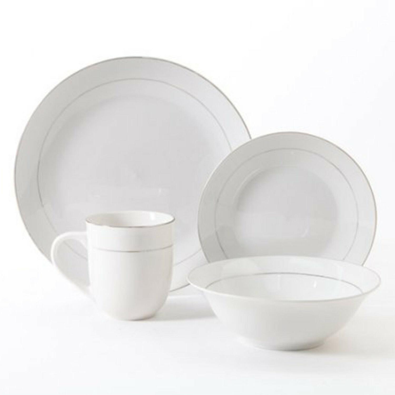 16 Piece Round Set Kitchen Plates