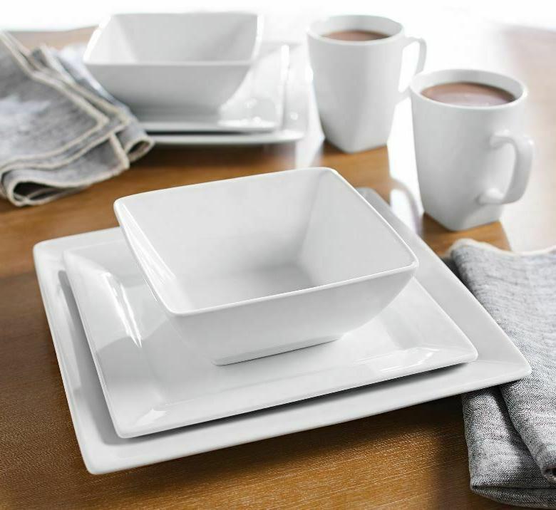16-Piece Porcelain Dinnerware Set Dinner Dishes