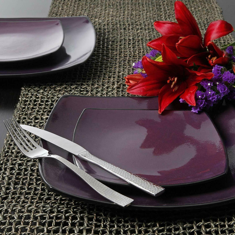 16-Piece Reactive Dinnerware Set, Purple