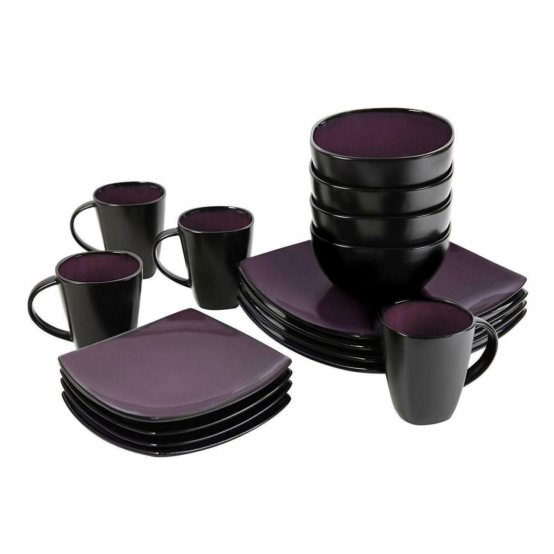 16-Piece Square Dinnerware Set,