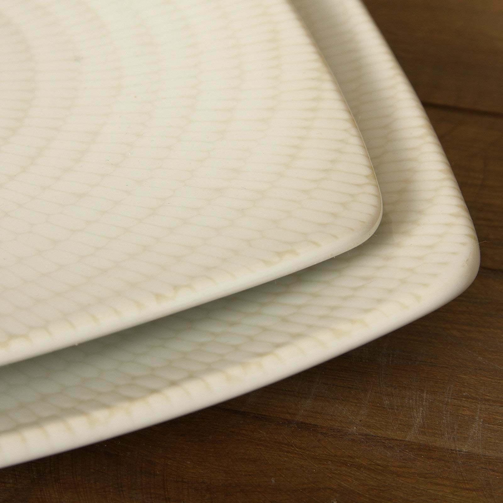16-piece White Dinnerware Set Durable Stoneware