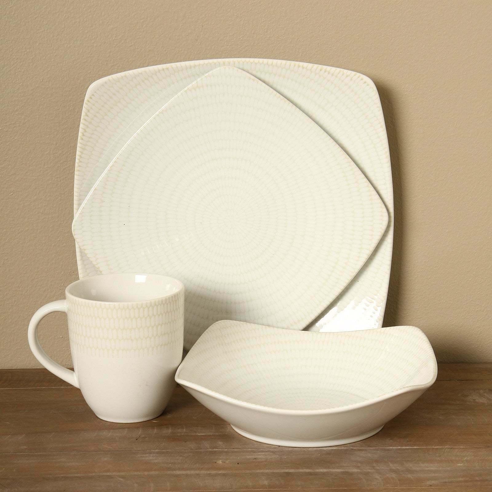 16-piece Rice Dinnerware Dishwasher Safe