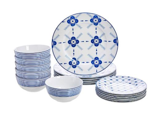 18 piece dinnerware set cottage service