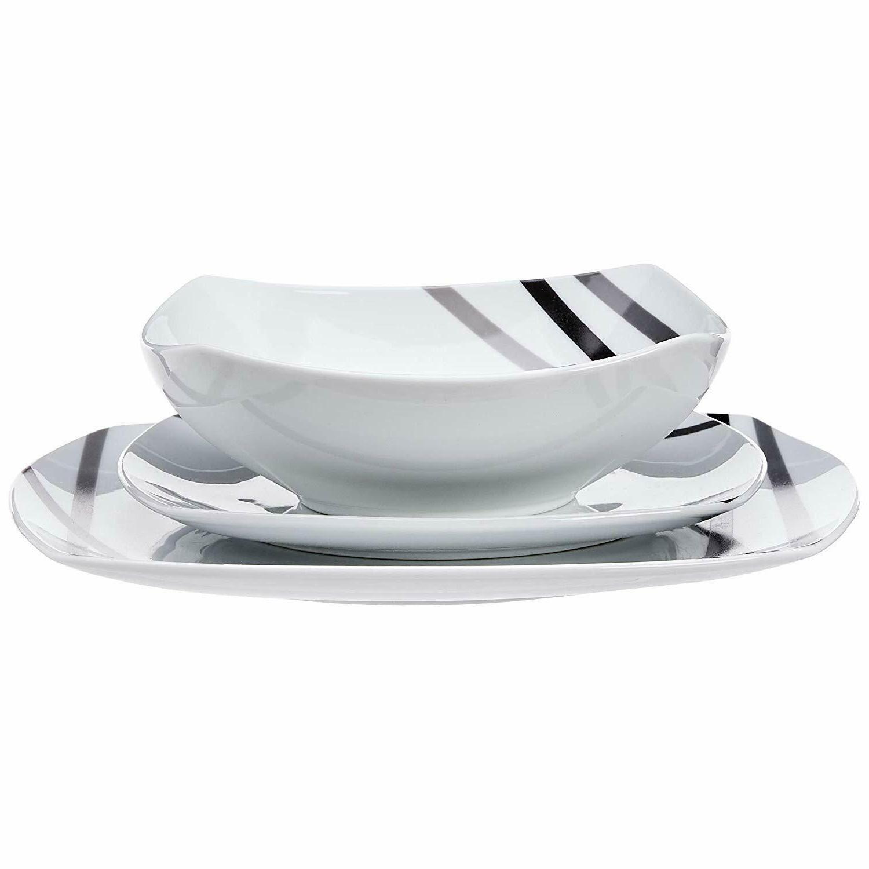 AmazonBasics 18-Piece Dinnerware Set, Dishes, Service
