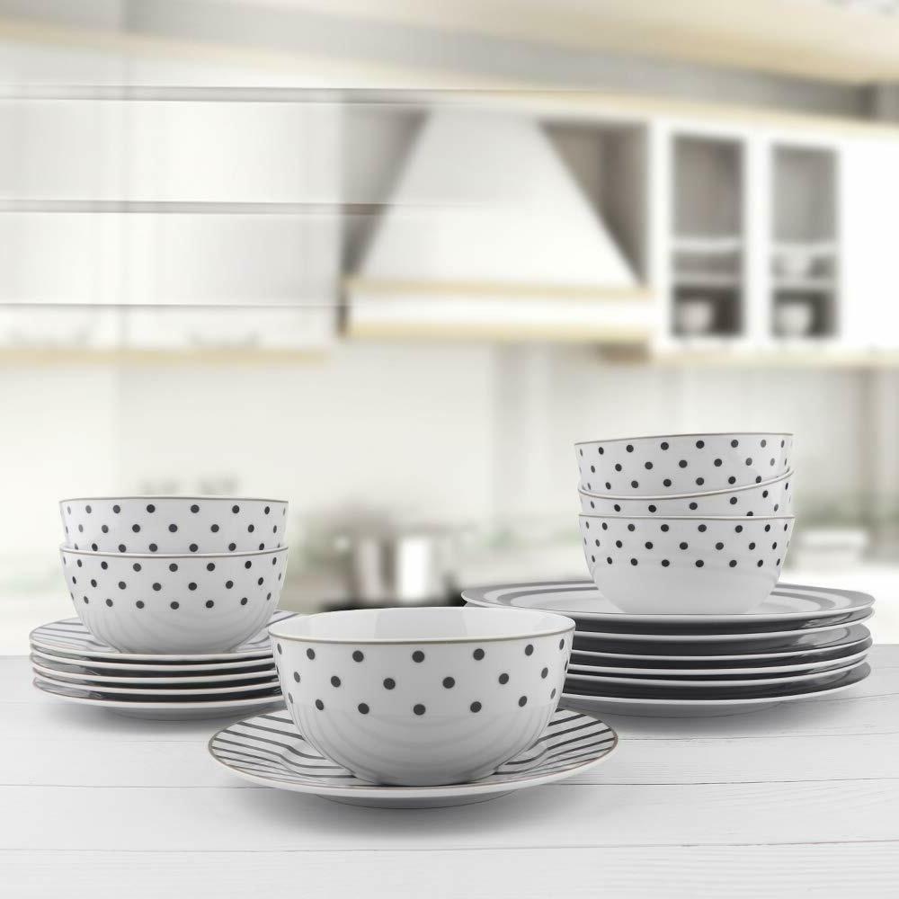 18-Piece Dinnerware Modern Elegance, Service 6
