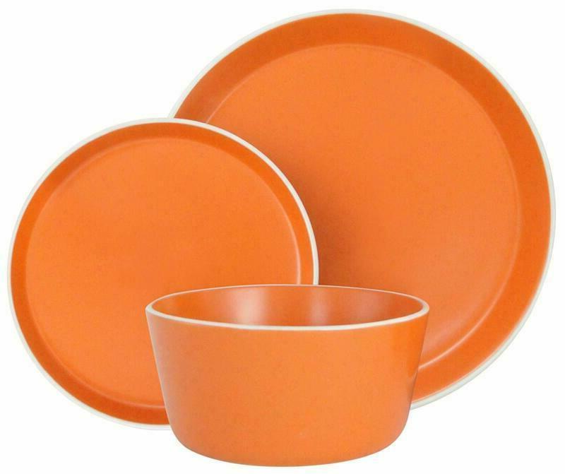 18-Piece Dinnerware Set  Service For 6 Microwave Dishwasher