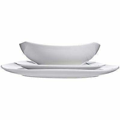 AmazonBasics 18-Piece Dinnerware Set - Lines, Service for 6 New