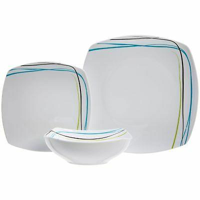 AmazonBasics Dinnerware Set for 6 New