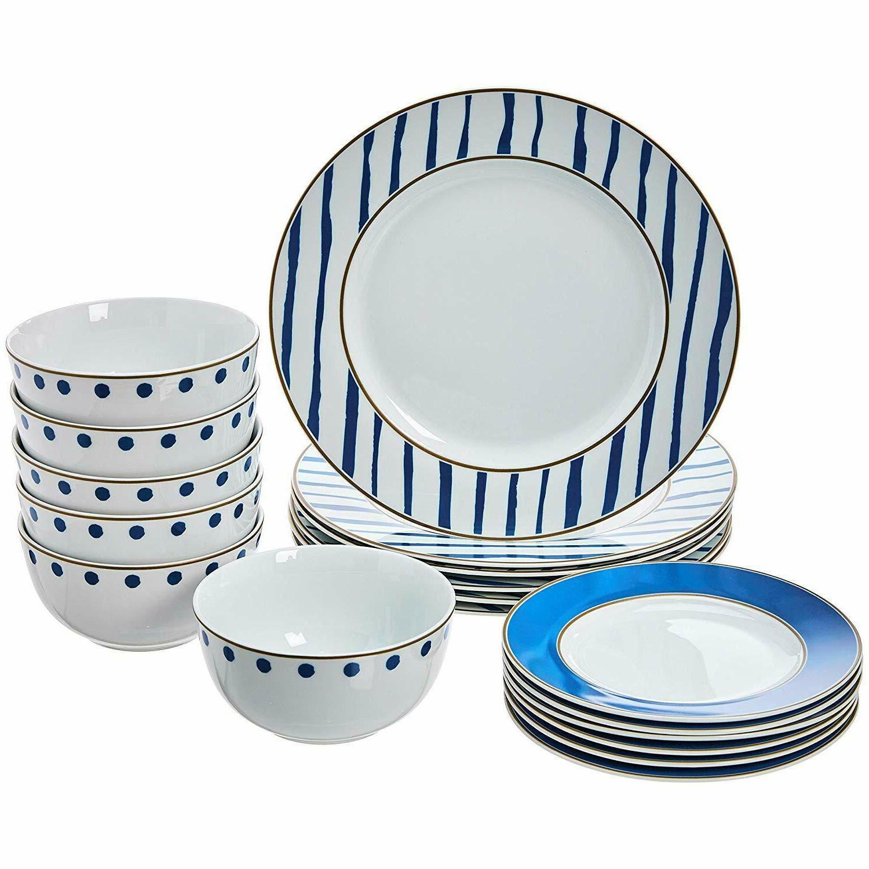 Kitchen Dishes, Bowls, 6, Blue