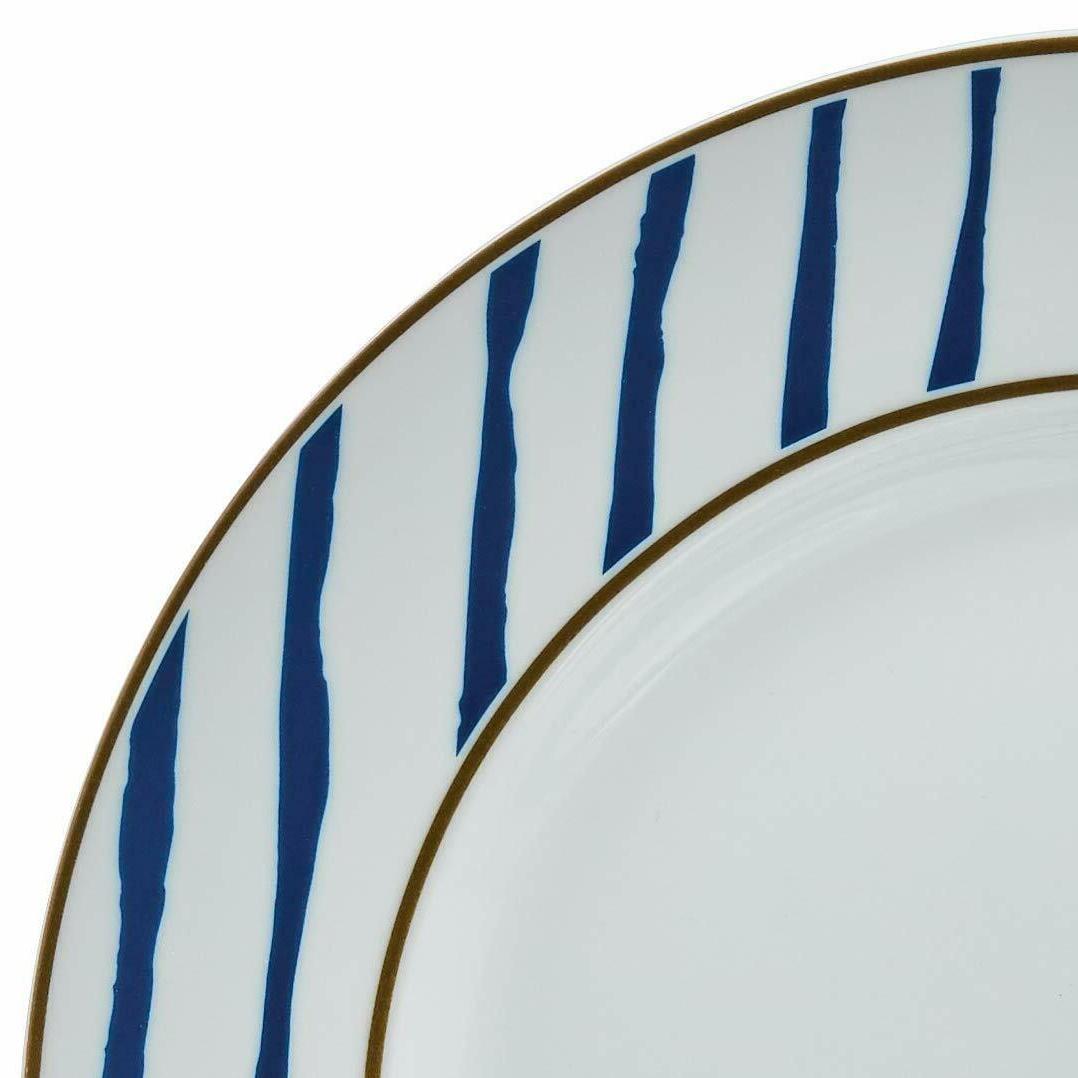 Kitchen Dinnerware Bowls, Service 6, Blue Accent