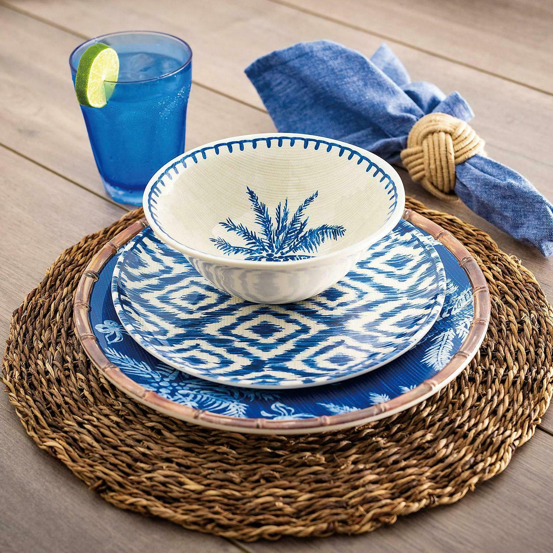 18-Piece Melamine Dinnerware Set, 6 Dining Table