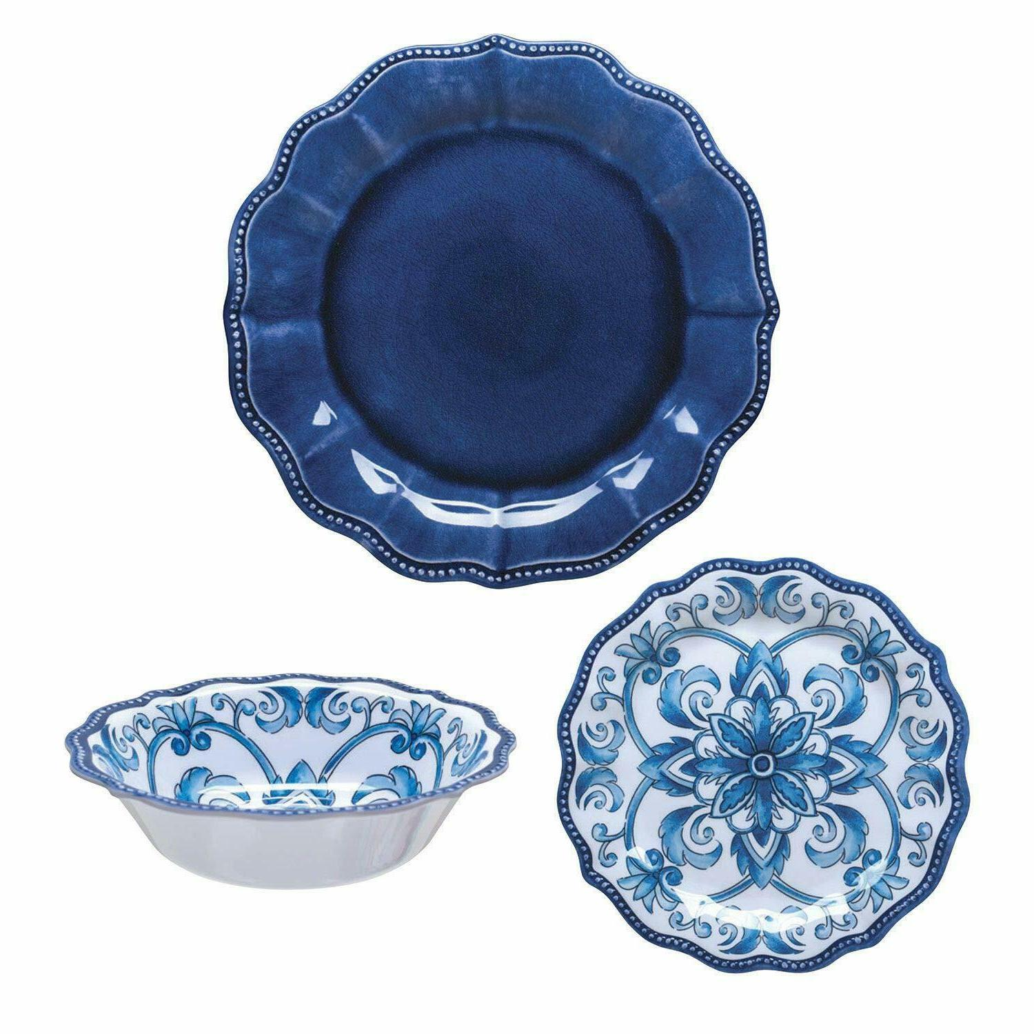 "18 Piece Melamine Dinnerware Set ""French"