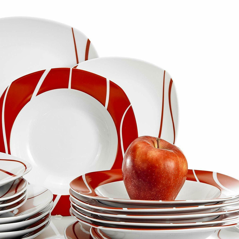 18-Piece Porcelain Dinnerware for Dinner