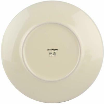 AmazonBasics 18-Piece Stoneware Dinnerware Set For 6