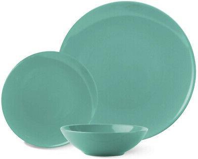 AmazonBasics Stoneware Dinnerware Set - Service For 6