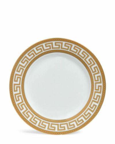 Euro Porcelain 20-pc Athena White Dinnerware for Gold