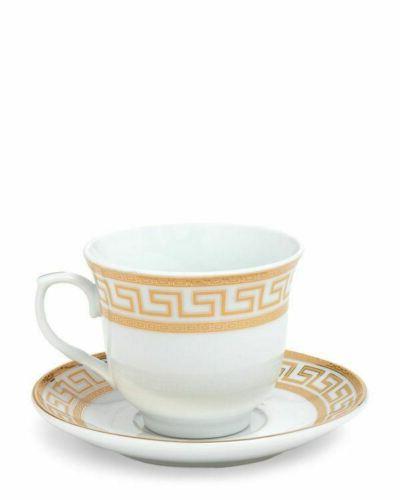 Euro White Dinnerware for 4, Gold