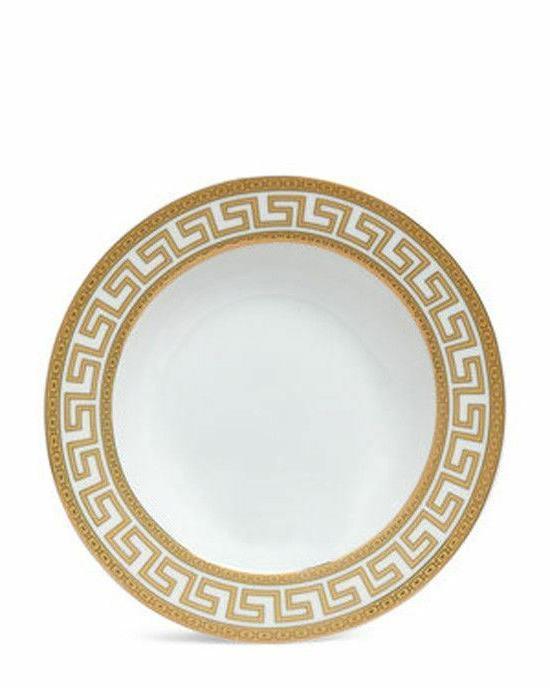 Euro Porcelain 20-pc Athena White Dinnerware Set Service for Gold
