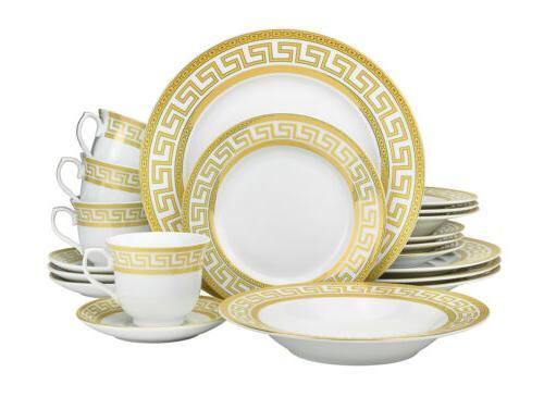 20 pc athena white dinnerware set service