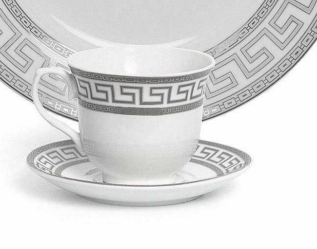 Euro Porcelain 20-pc Dinnerware Set 4, Greek Key