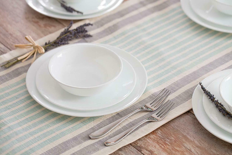 20 piece livingware dinnerware set with storage