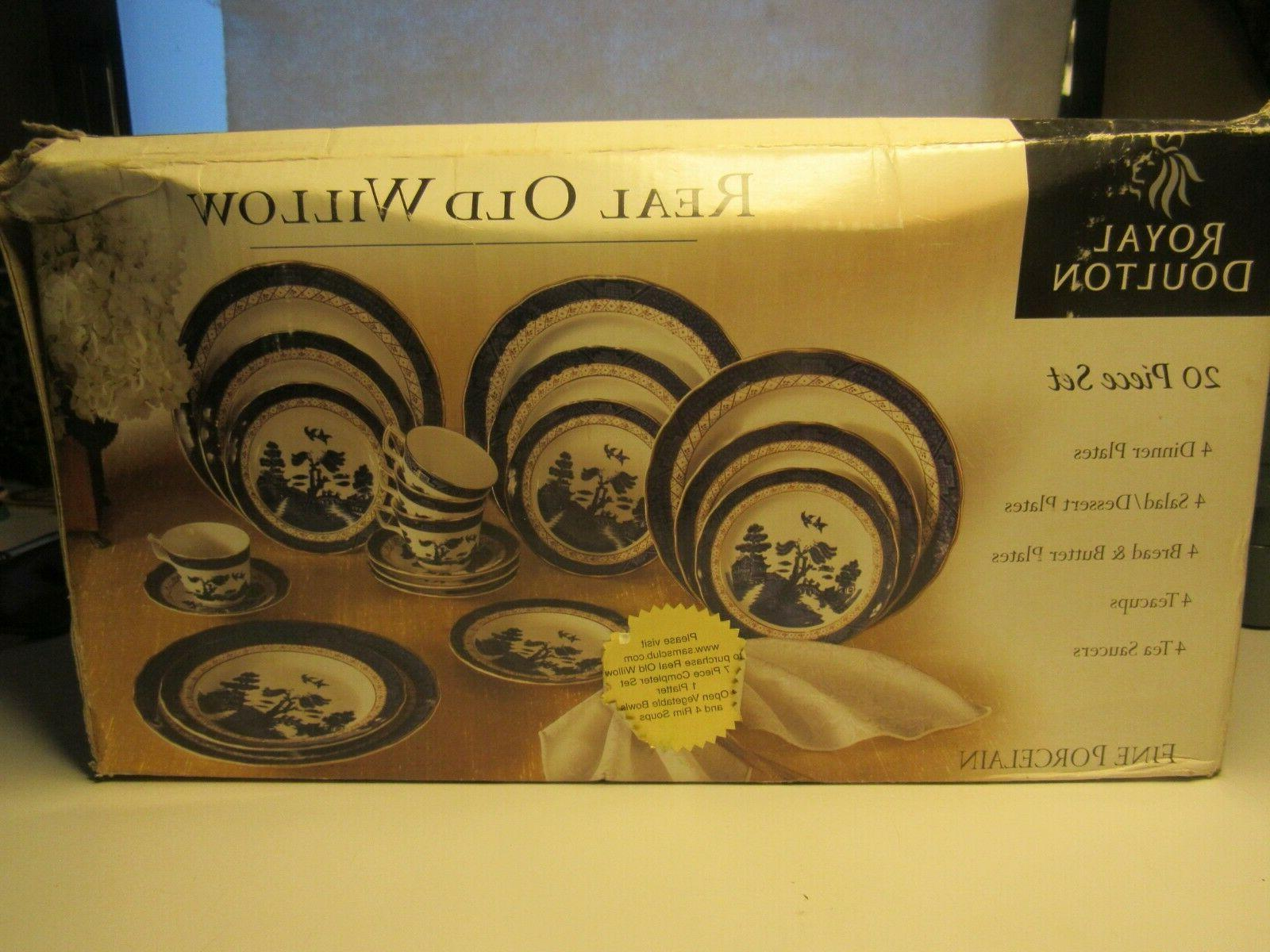 20 Real Willow Porcelain China 4 NEW