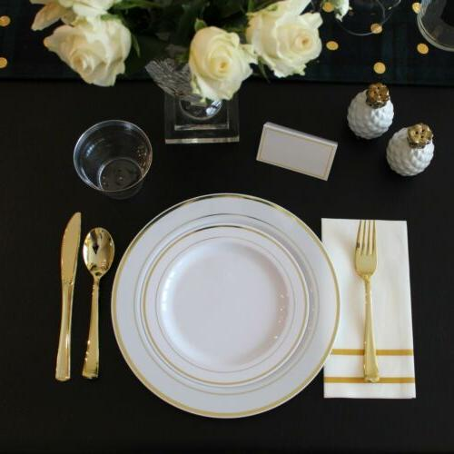 200 Disposable Dinnerware Plates for Party Guests