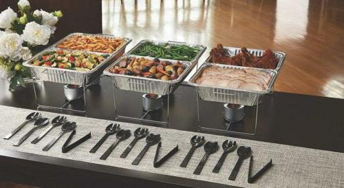 Party Essentials 33 Piece Serving Kit, Includes Chafing Kits Utensils