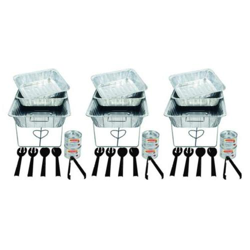 33 piece serving kit includes chafing kits