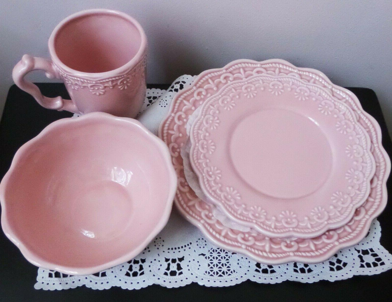 Victorian Lace 4 Pink Ceramic