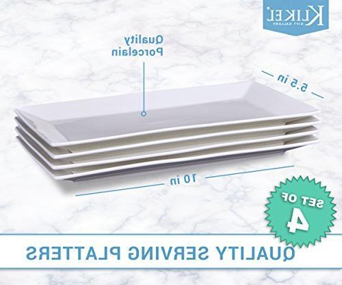 Klikel 4 Platters | | Serving Trays Parties | Dishwasher Safe X