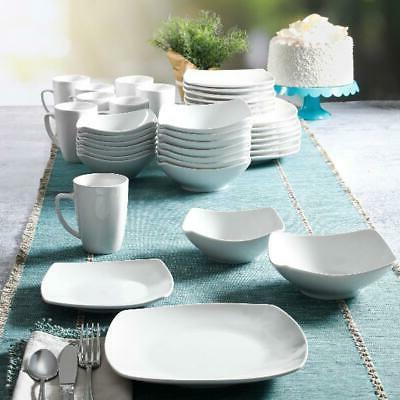 40-Piece Ceramic Dinner Plates New