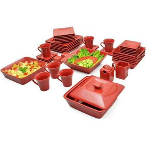 45-Piece For Plates Dinning Bowls