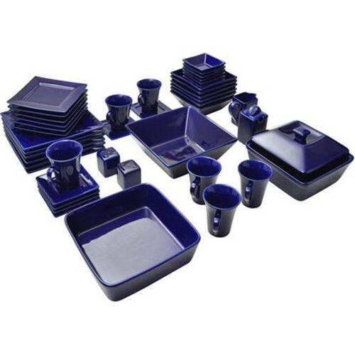 45-Piece Square Dinnerware Set For Banquet Dinner Plates